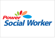 power social worker 배지모양